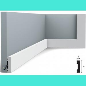 Fussleiste 4 x 1 cm SX162 Flexible Orac Decor 4 cm