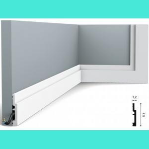 Fussleiste 7,5 x 1,2 cm SX187 Orac Decor 7,5 cm