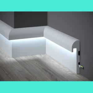 LED Sockelleiste aus Duropolymer QL015 Paper Mardom Decor 4.2 cm