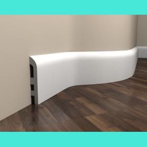 Fußbodenleiste weiß elastisch MD355F Mardom Decor 9.7 cm